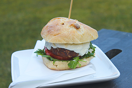 Street food-style snacks, such as this burger by Millar Catering, are becoming a popular alternative to canapés