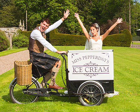 ice-cream bike by Miss Pepperday's Tricycle Treats, www.tricycletreats.com