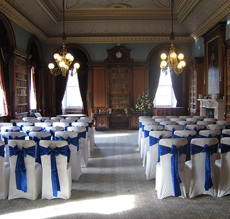 An aisle with a view at the eighteenth-century Haddo House in Aberdeenshire