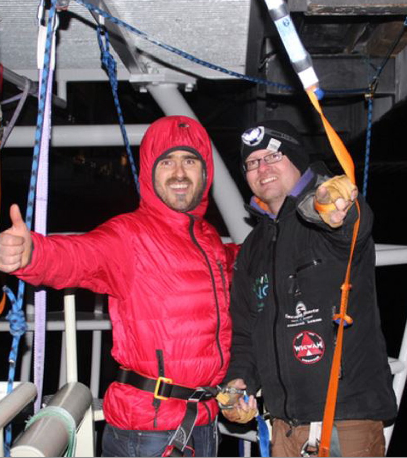 Groom Neil Sharp takes on a bungee jump on the eve of his wedding