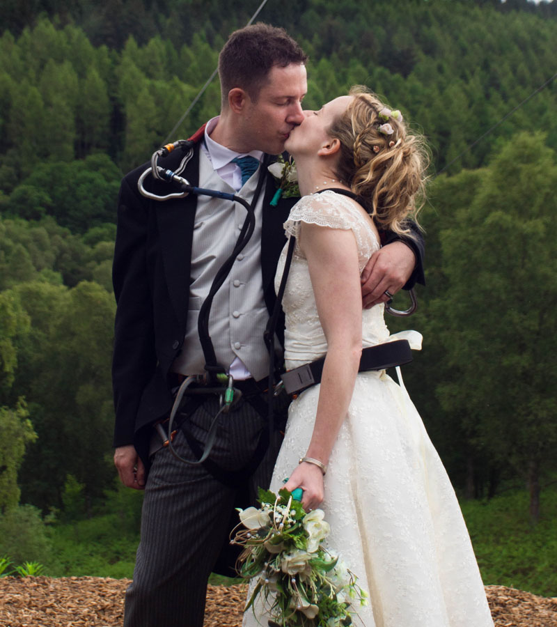 Just married! Martyn and Collette come back down to earth
