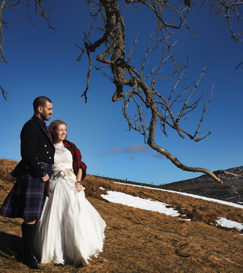 The happy couple celebrated their love, and their love of the outdoors. Photography by Julia Molner