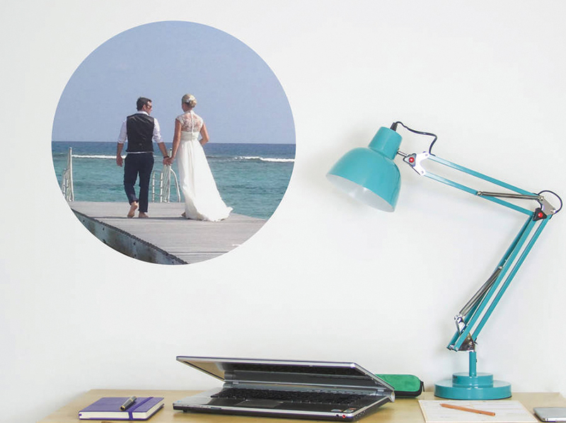 11NOTHS Your Photo Circle Wall Stickers