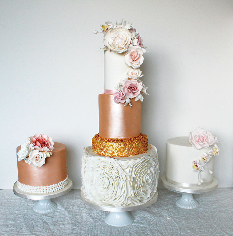 Showcase a variety of textures with a trio of cakes, Rosewood Cakes (rosewoodcakes.com)