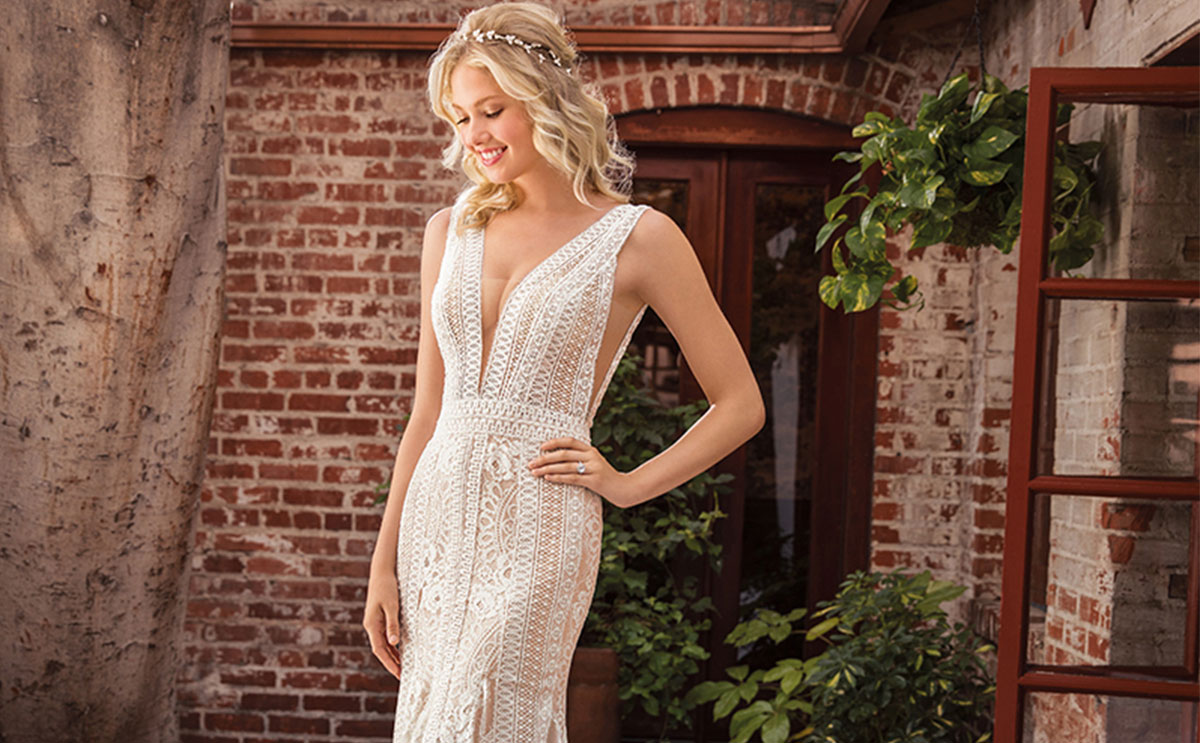 Style BL288 from the Beloved collection by Casablanca Bridal, £POA, available at The Bridal Courtyard
