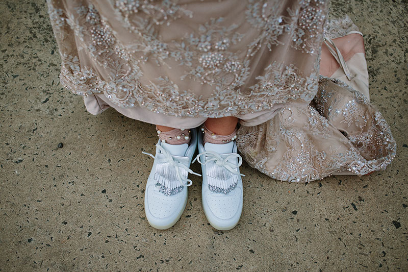 bride's trainers