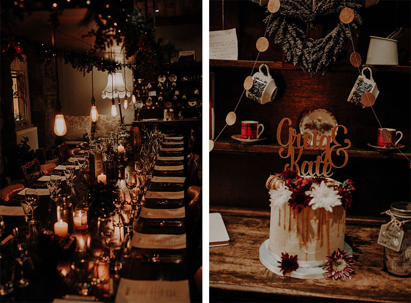 Cake and table detail shots