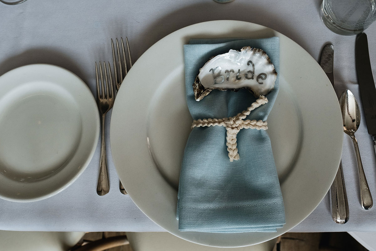 nautical wedding place setting
