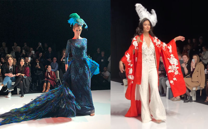 two Eliza Jane Howell looks from the White Gallery Catwalk