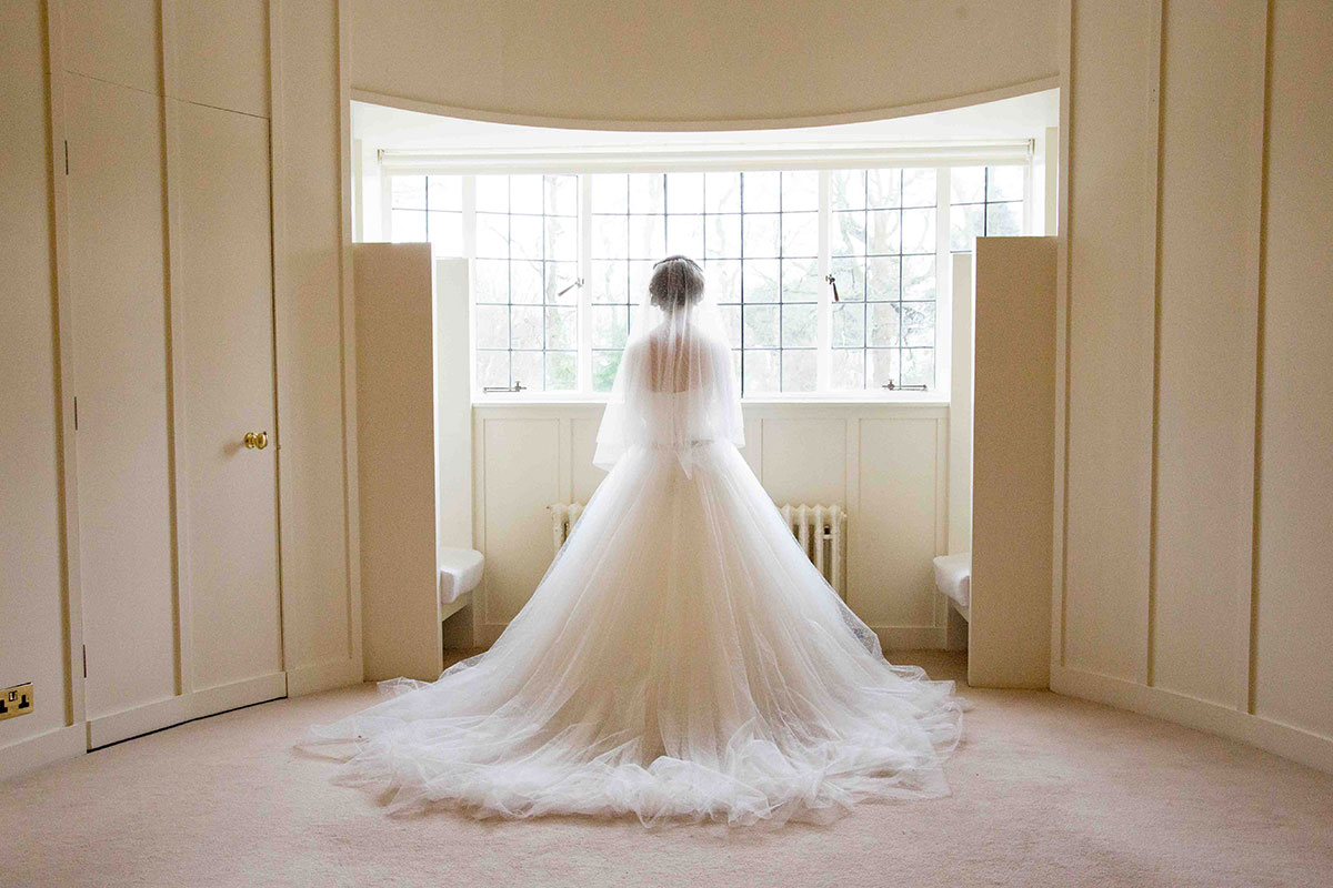 bride in House for an Art Lover