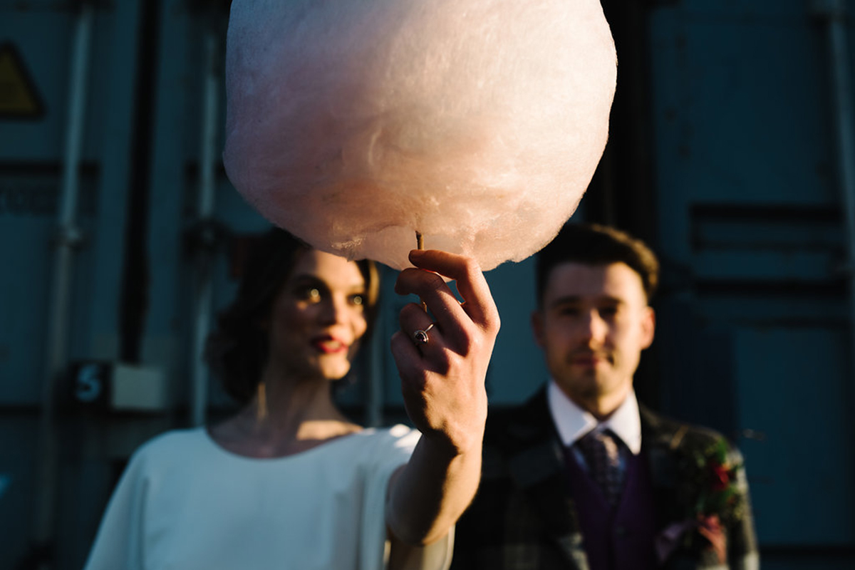 bride-holding-up-candy-floss