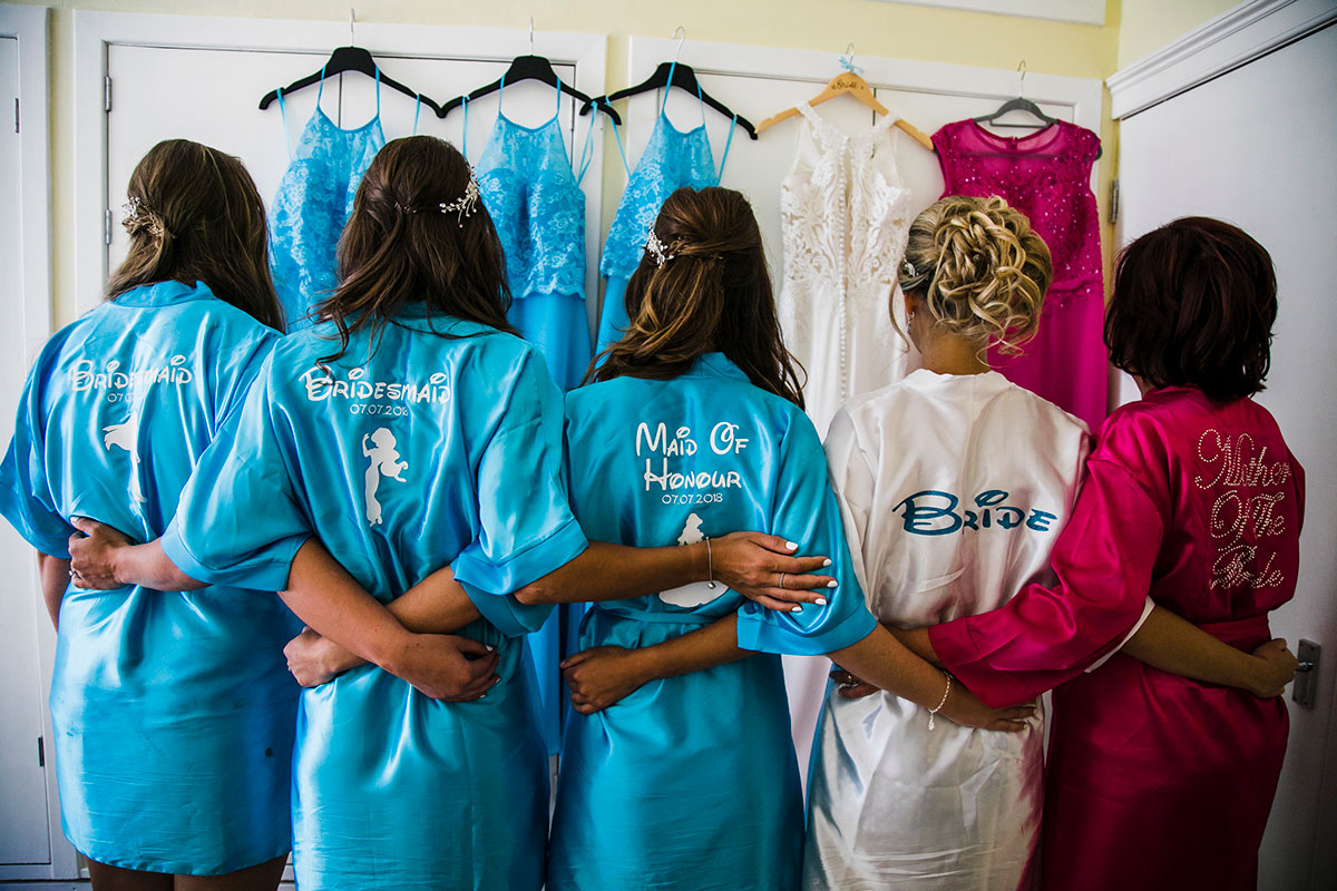 bride-and-bridesmaids-in-personalised-robes