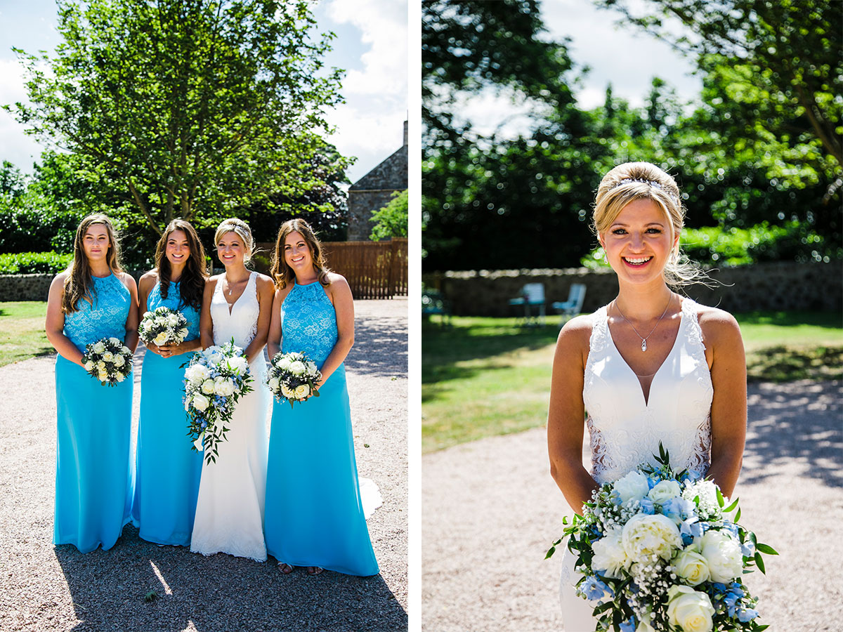 bride-and-bridesmaids-in-sunshine