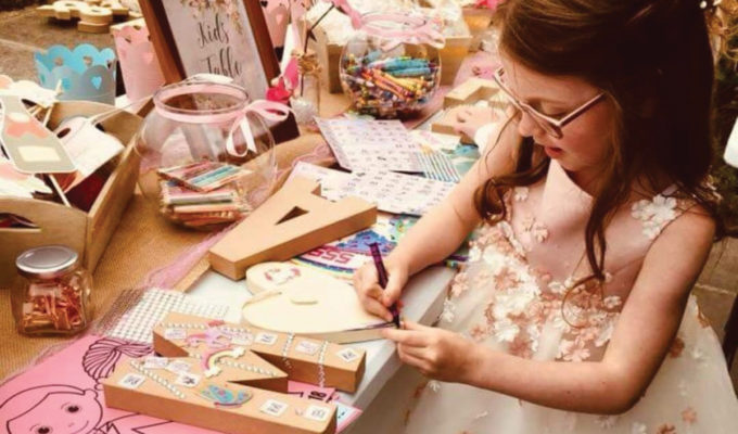 Child playing with Arty Party Crafts