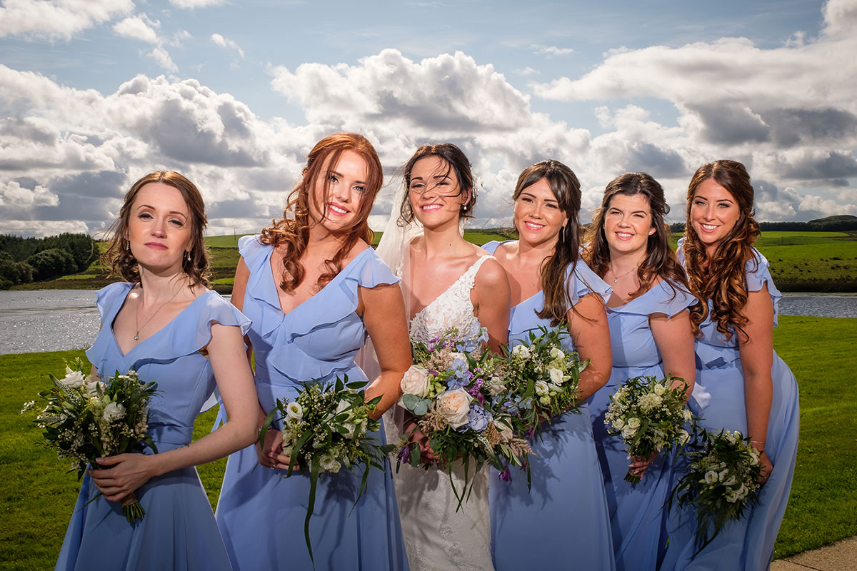 bride-and-bridesmaids-in-light-blue-dresses