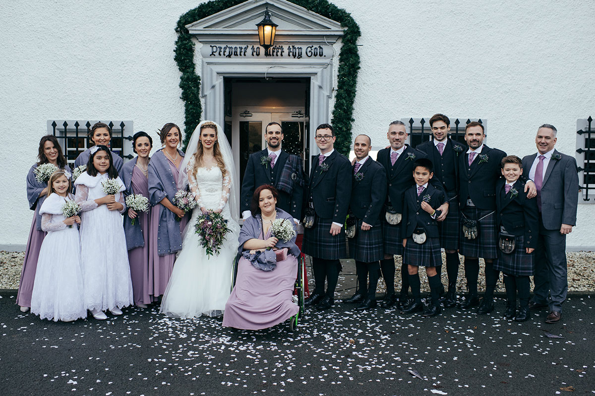 full-bridal-party-outside-barony-castle