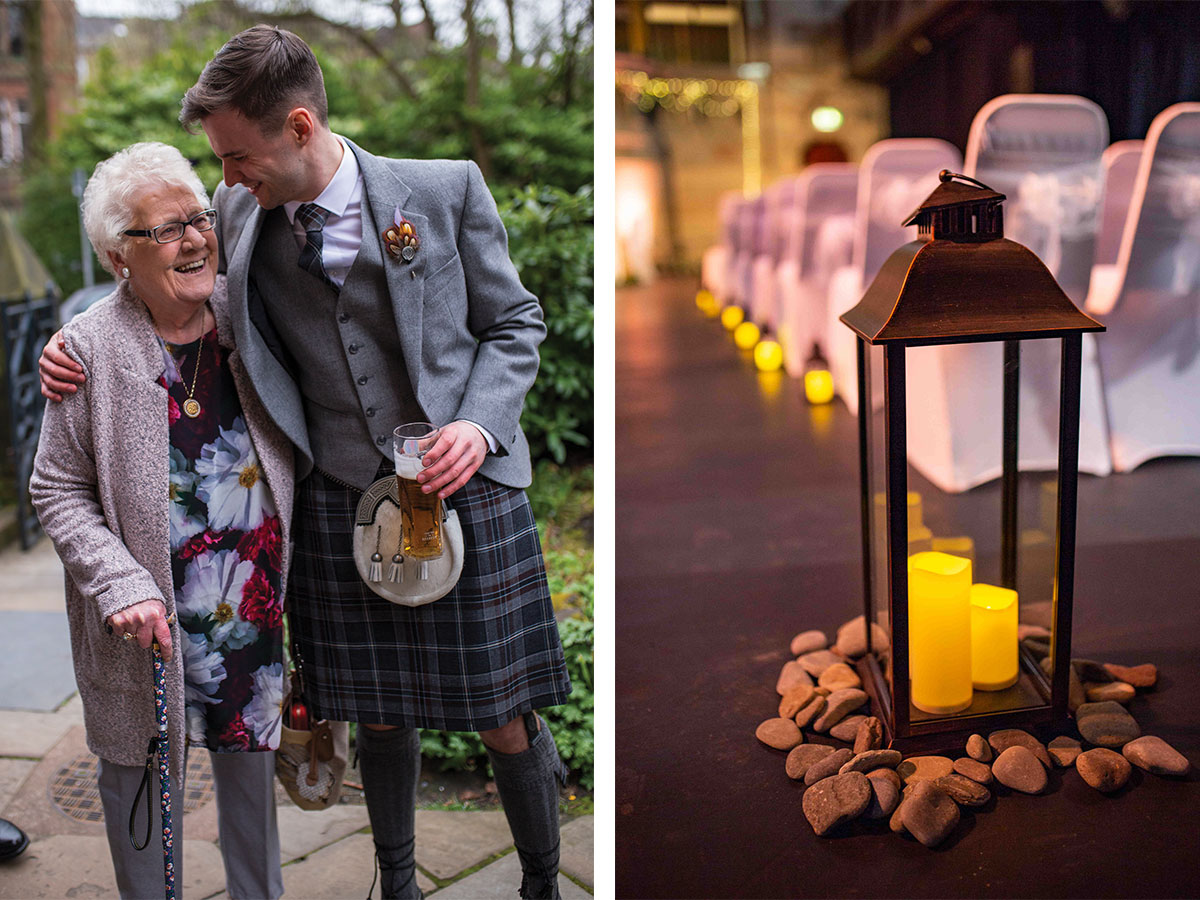 groom-with-guest-and-lanterns-with-peebles
