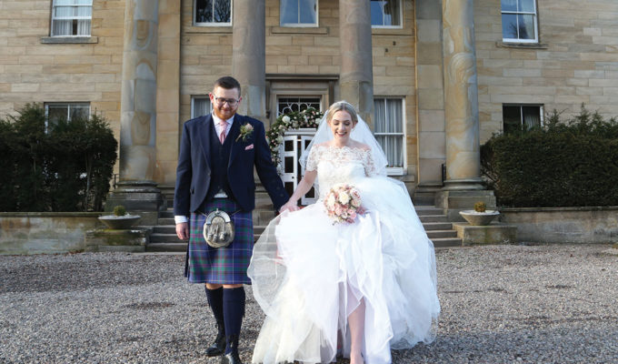 bride-and-groom-outside-balbirnie-house