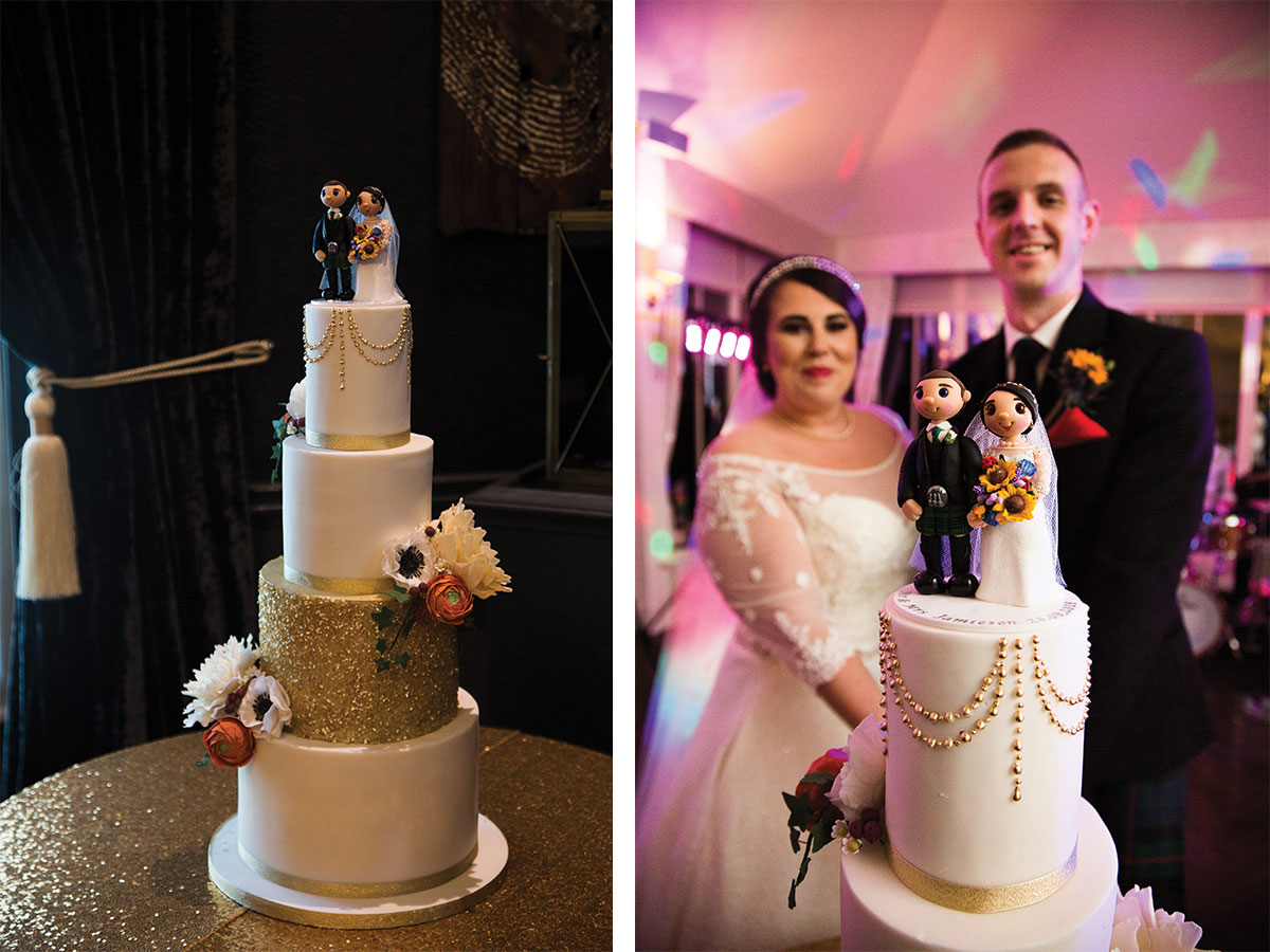 white-wedding-cake-with-persoanlised-cake-topper