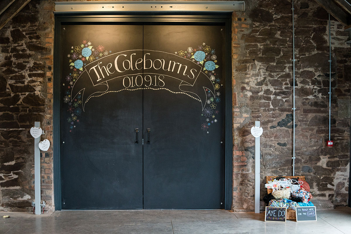 painted-chalk-door-with-name-and-date