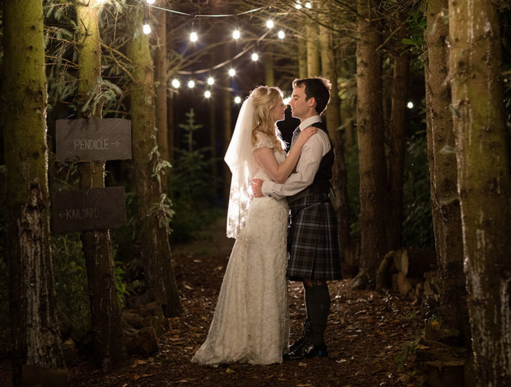 bride-and-groom-in-forest-outside