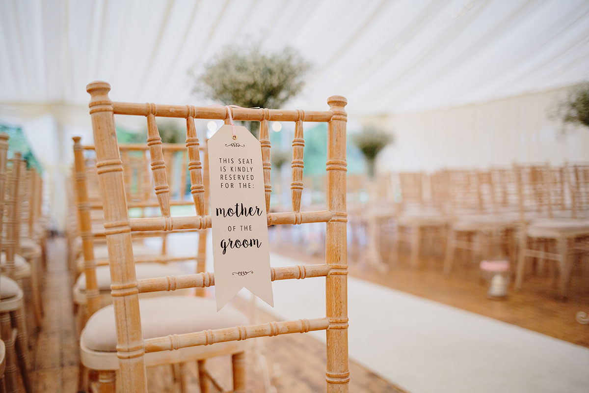 reservation-tag-on-seat-for-wedding-ceremony