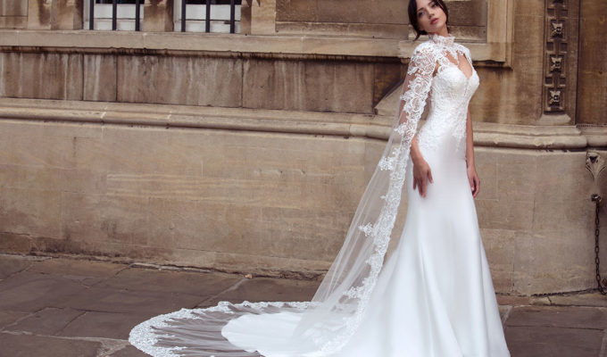 Orion gown and cape by Dando London