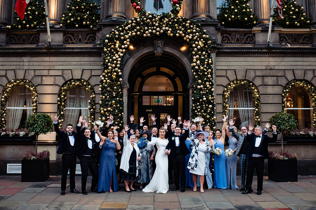 wedding-party-outside-of-george-hotel-and-christmas