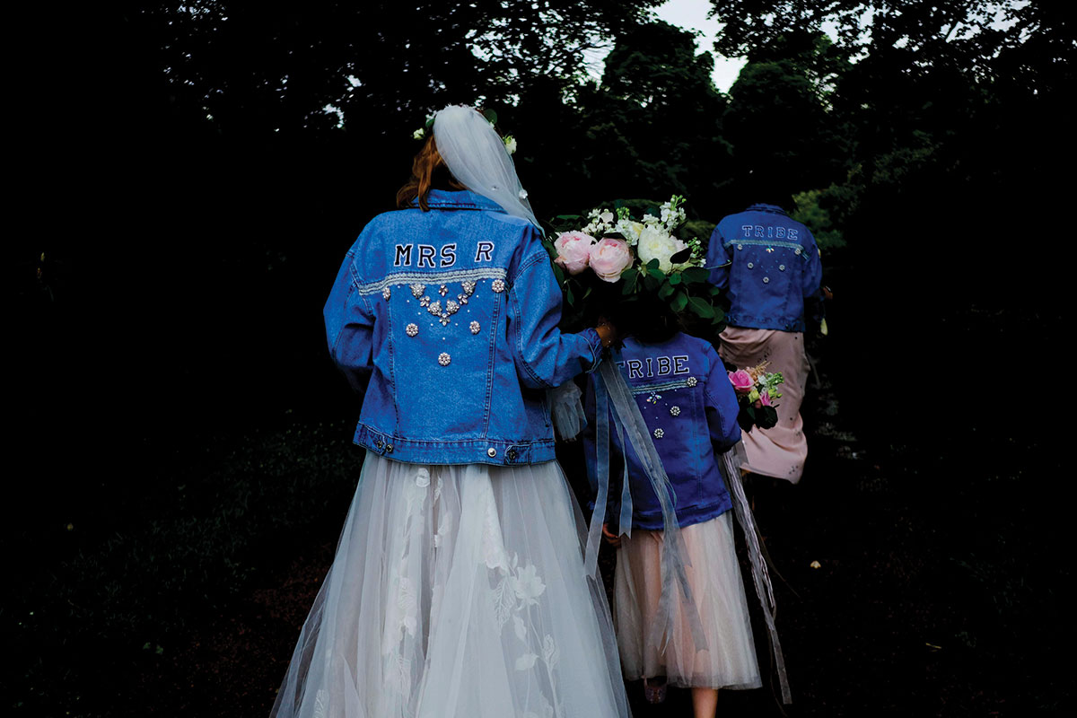bridal-party-wearing-customised-denim-jackets
