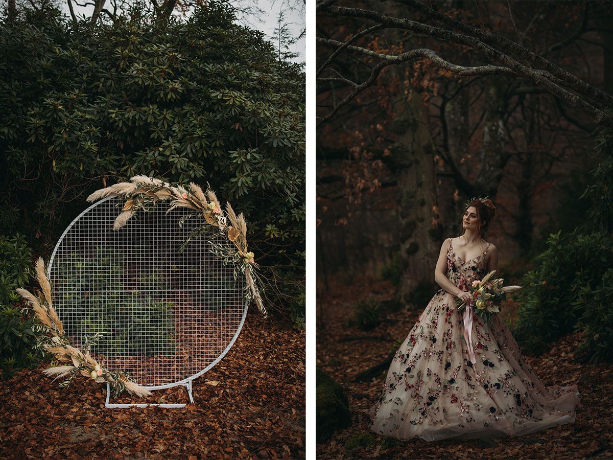 circular-arch-with-bride-in-patterned-dress