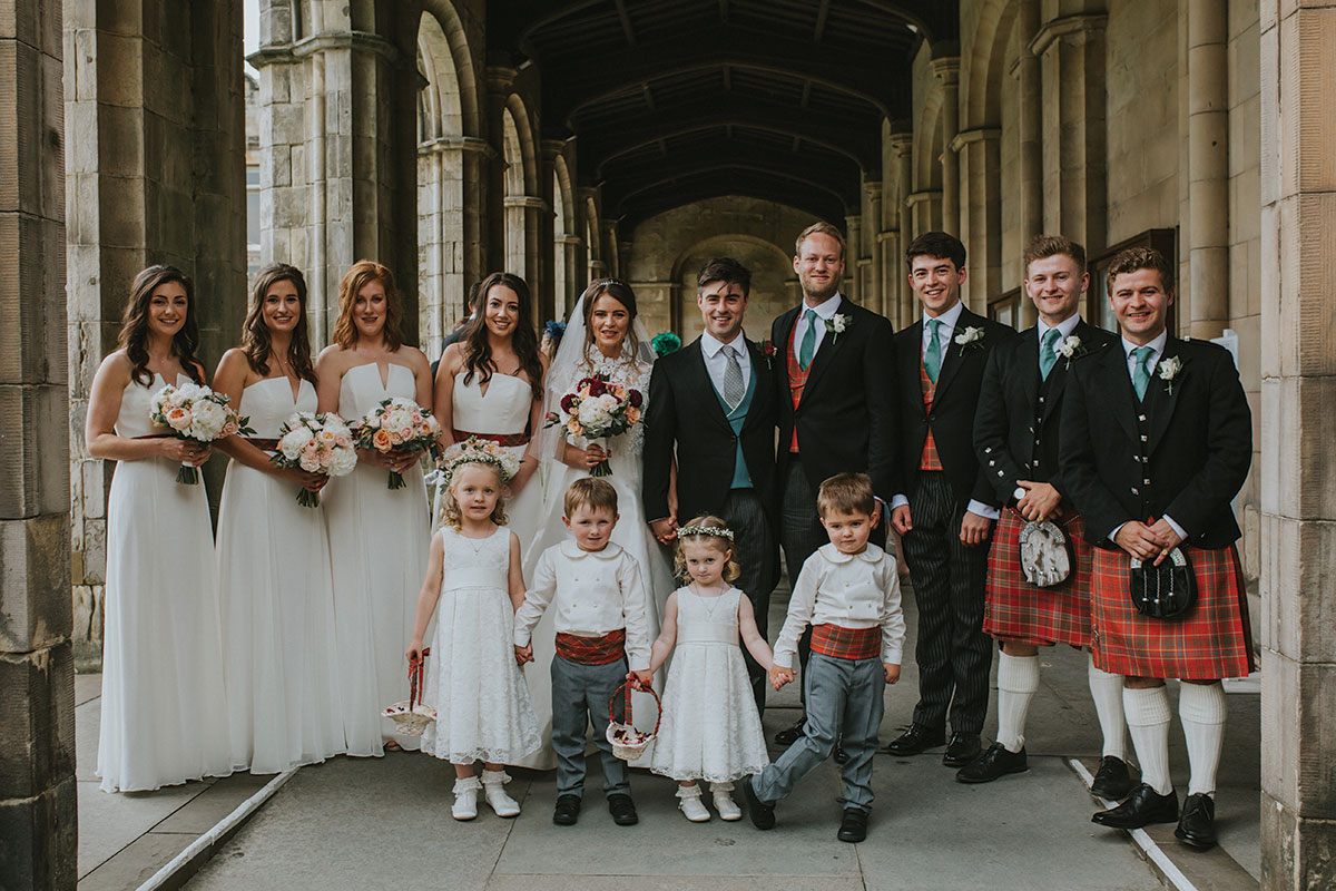 wedding-party-with-red-tartan-colour-scheme