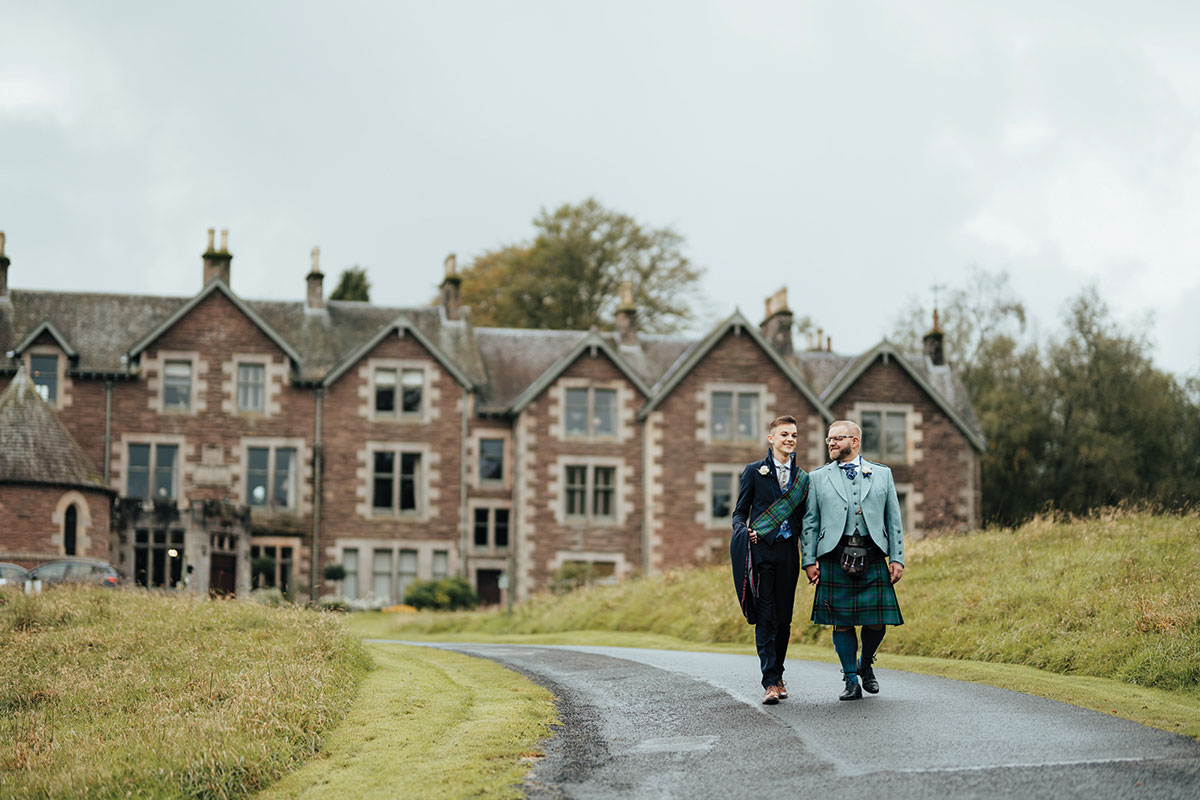 walking-down-path-outside-cromlix-together