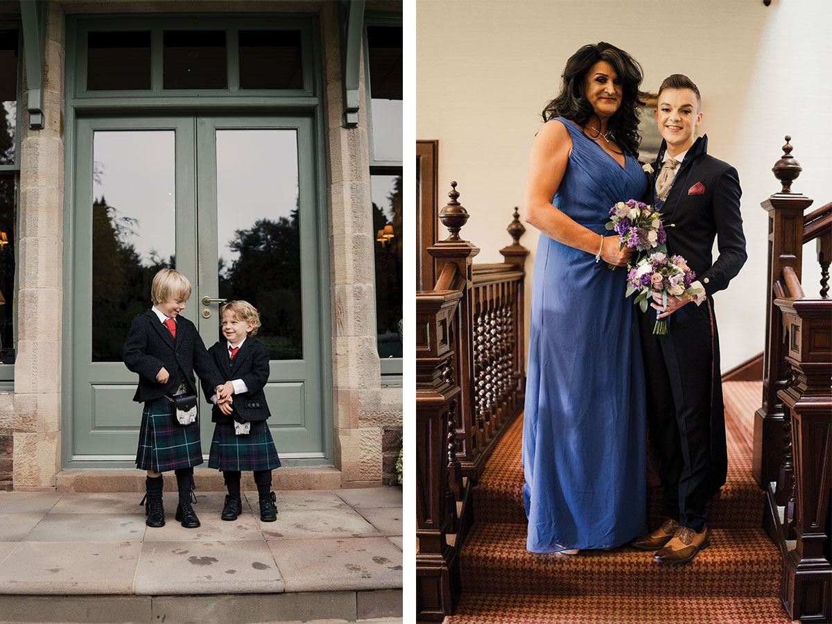 two-pageboys-and-groom-and-bridesmaid