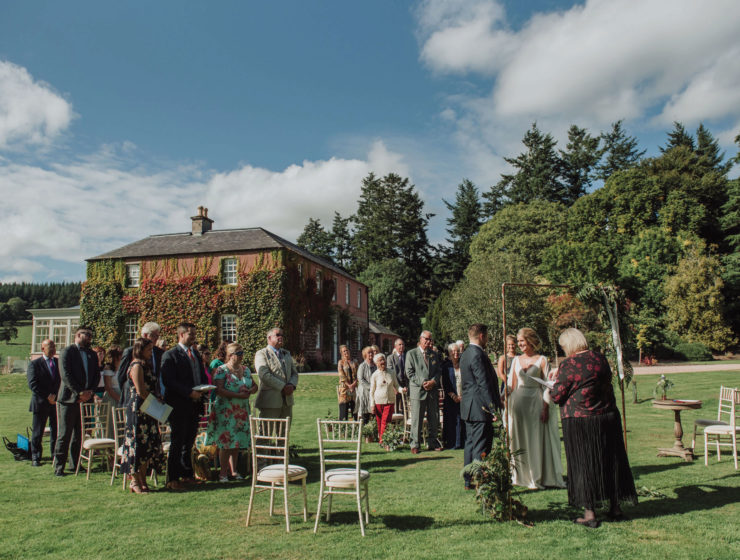 ballogie-house-outdoor-wedding-ceremony