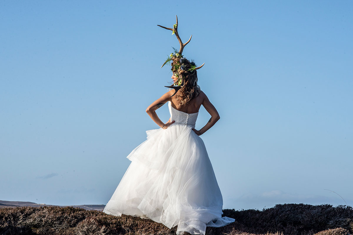 model-wearing-stag-horn-headpiece