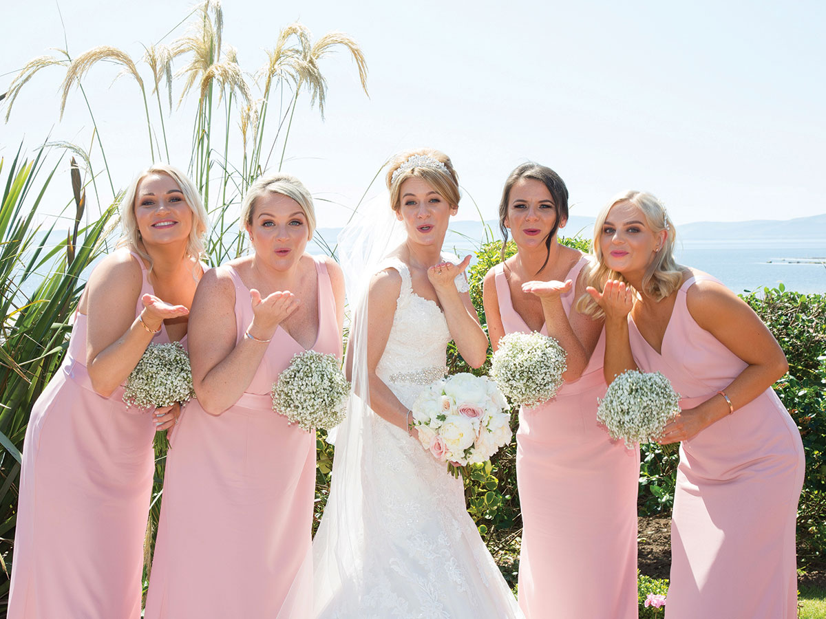 bride-and-bridesmaids-in-pink-dress