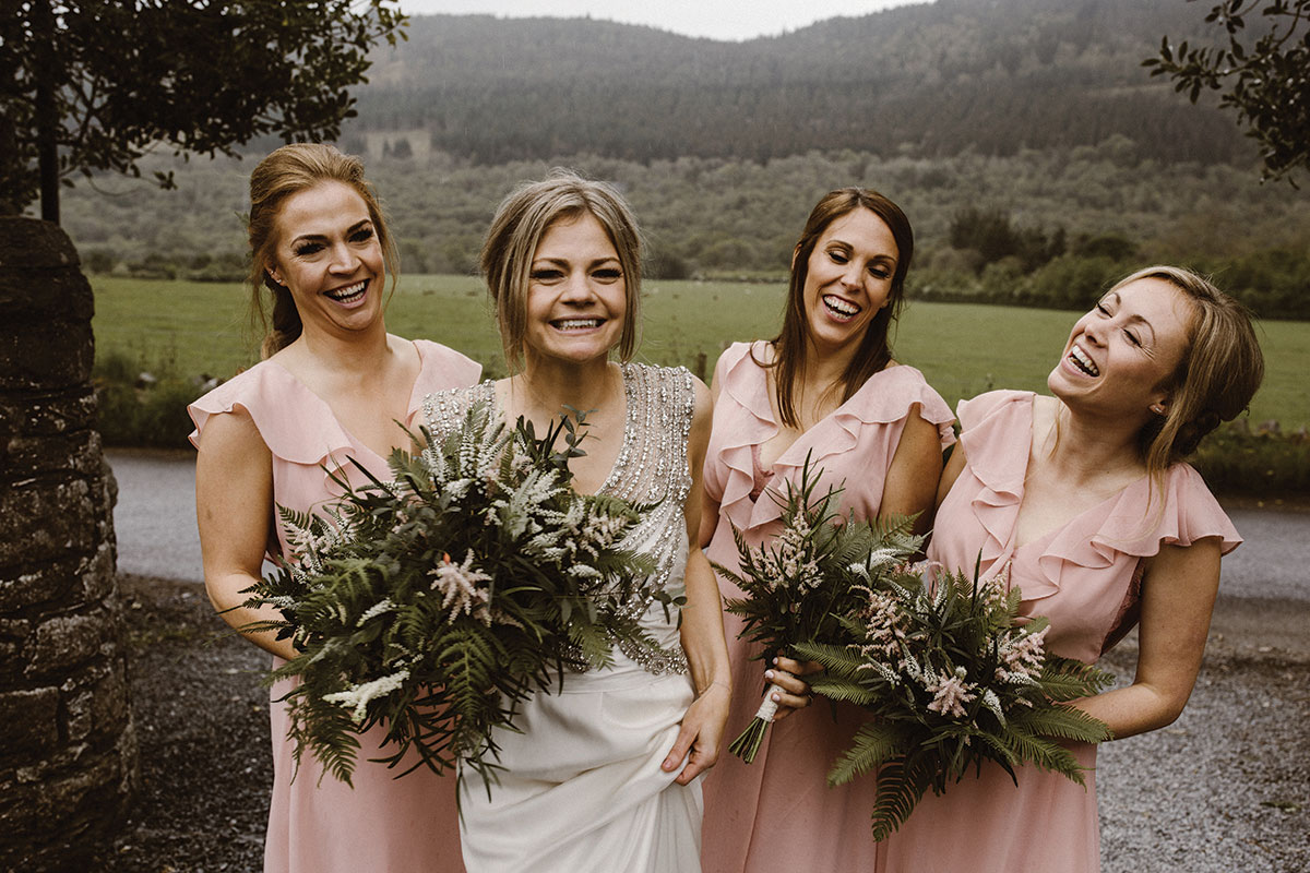 brides-and-bridesmaids-in-pink-dresses