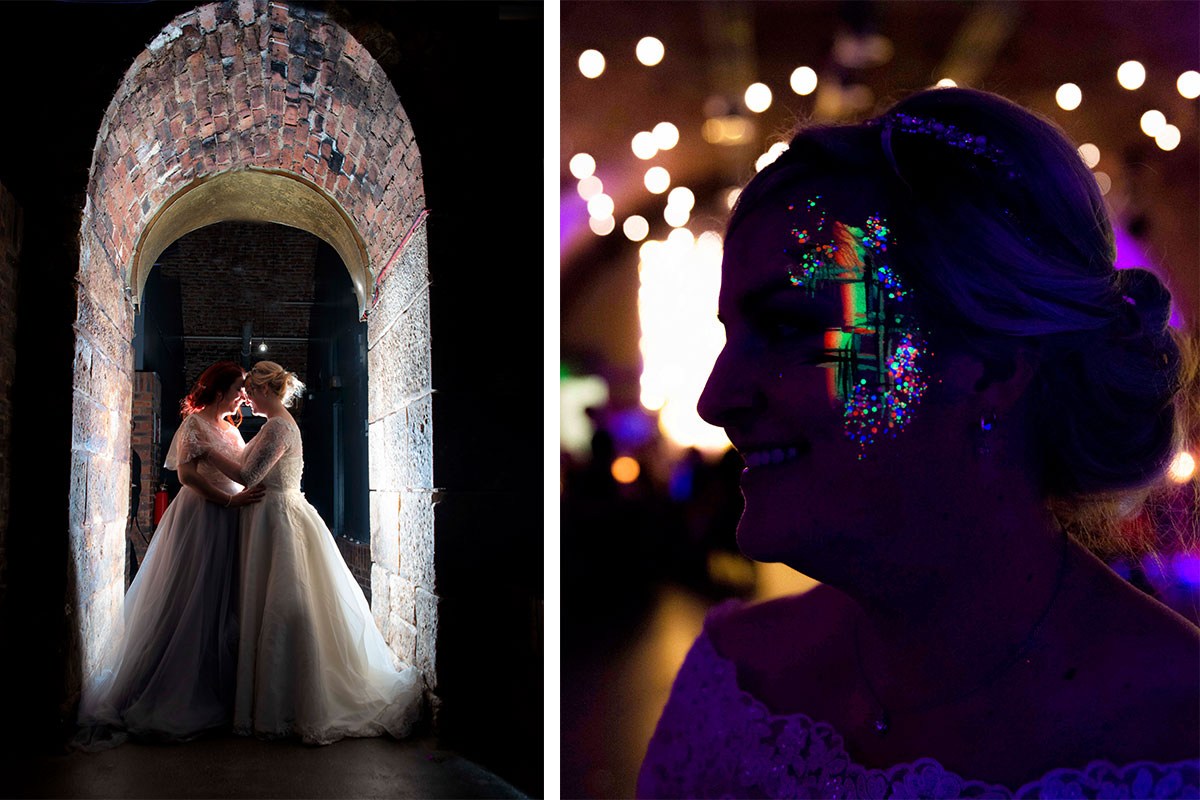 brides-under-brick-arches-and-bride-with-her-face-painted