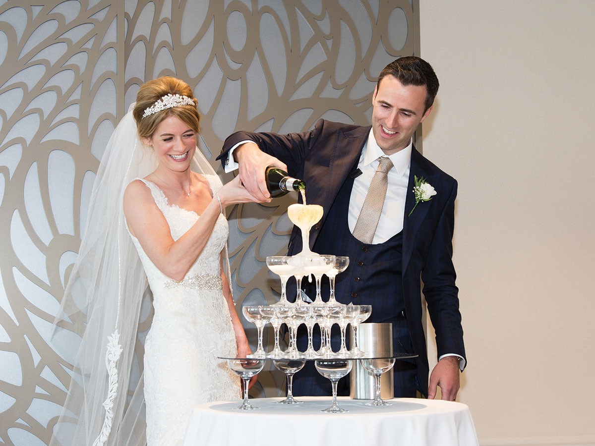 pouring-a-champagne-tower-in-firth-pavilion-at-seamill-hydro