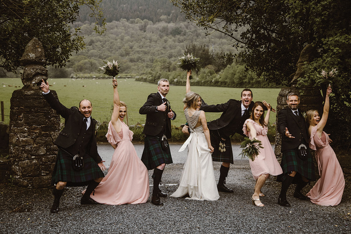 bridal-party-having-fun-during-photo-session