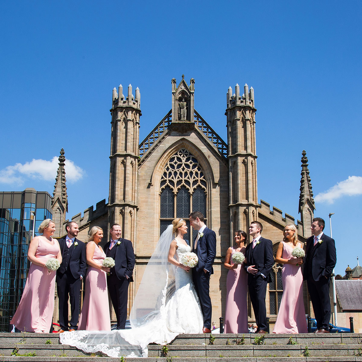 bridal-party-outside-st-andrews-cathedral