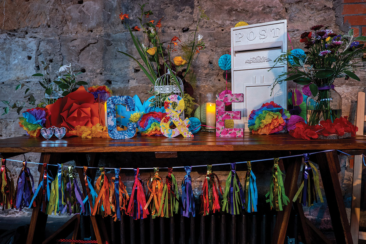 table-display-with-rainbow-decor-and-personalised-letters