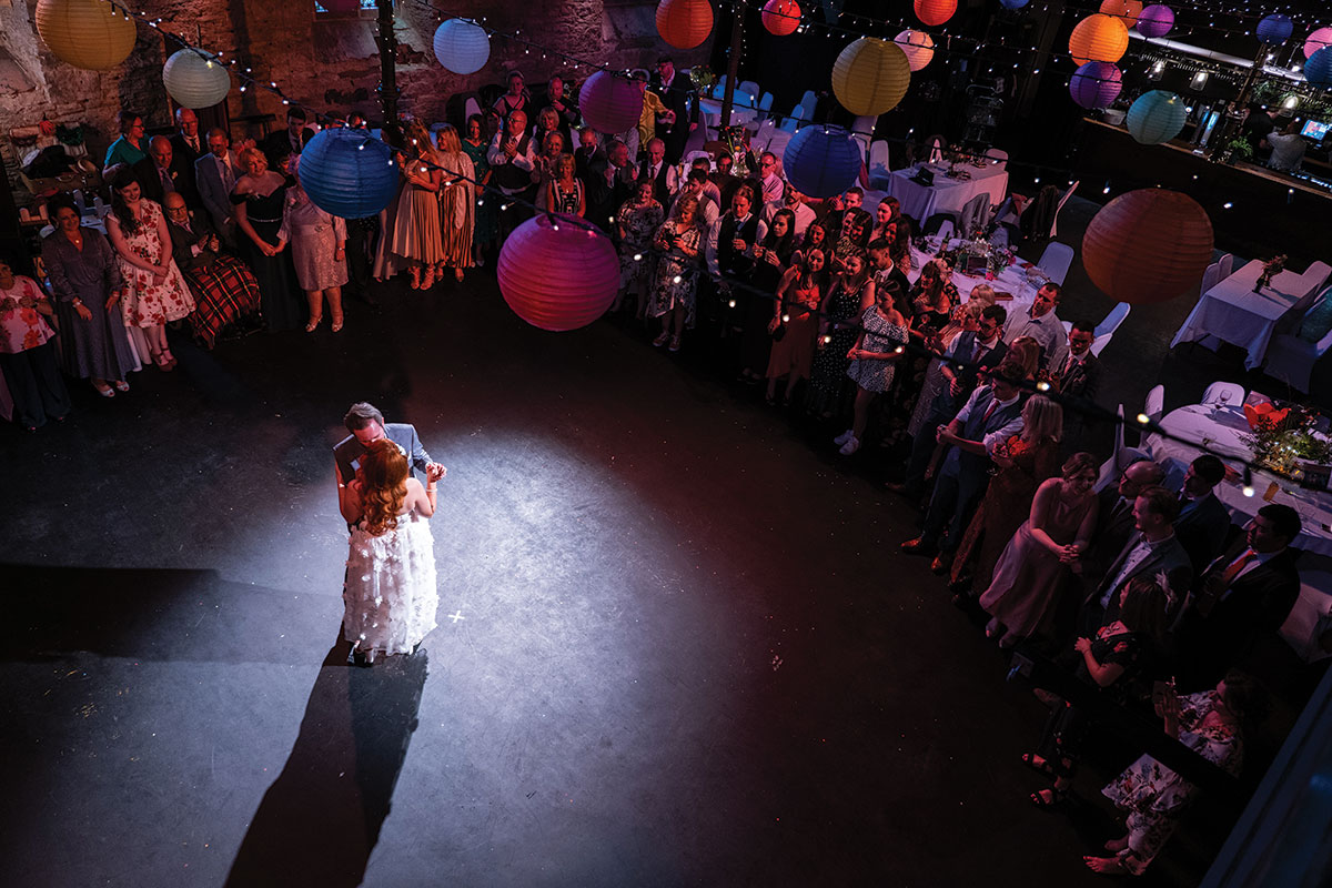 first-dance-photo-being-taken-from-above