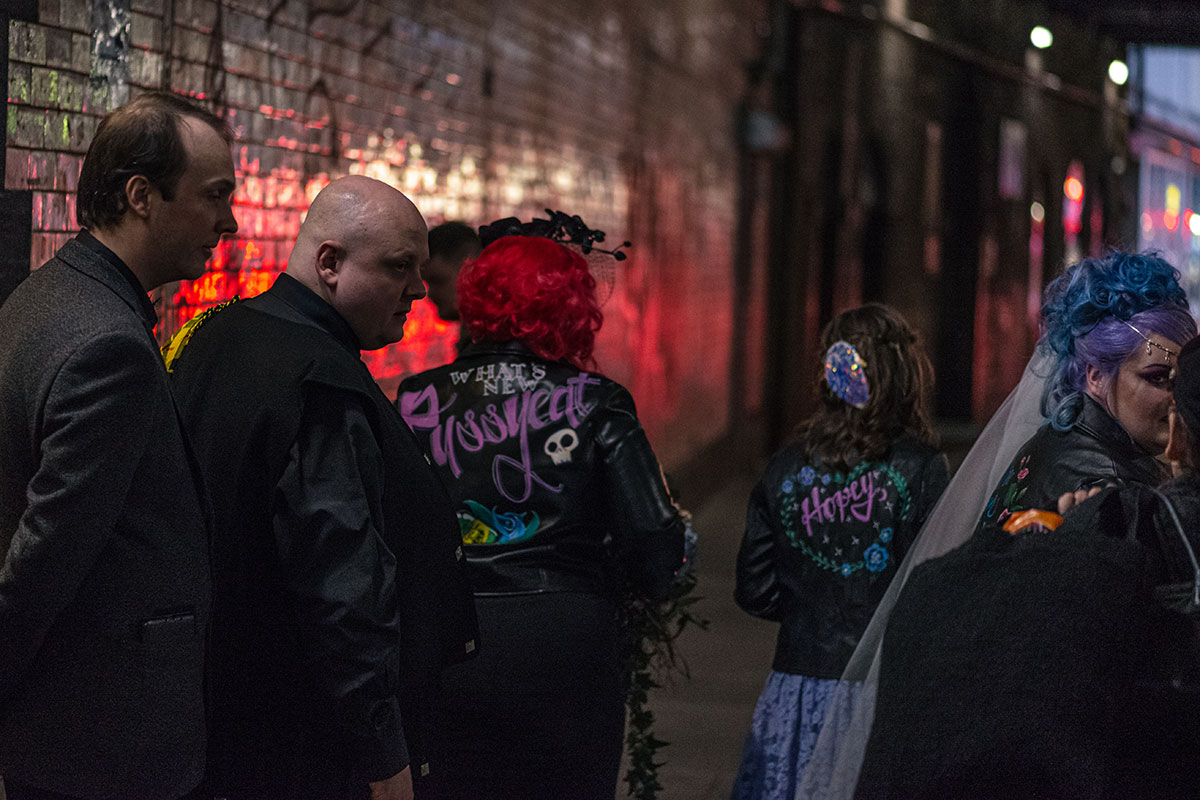 bridesmaids-in-painted-leather-jackets