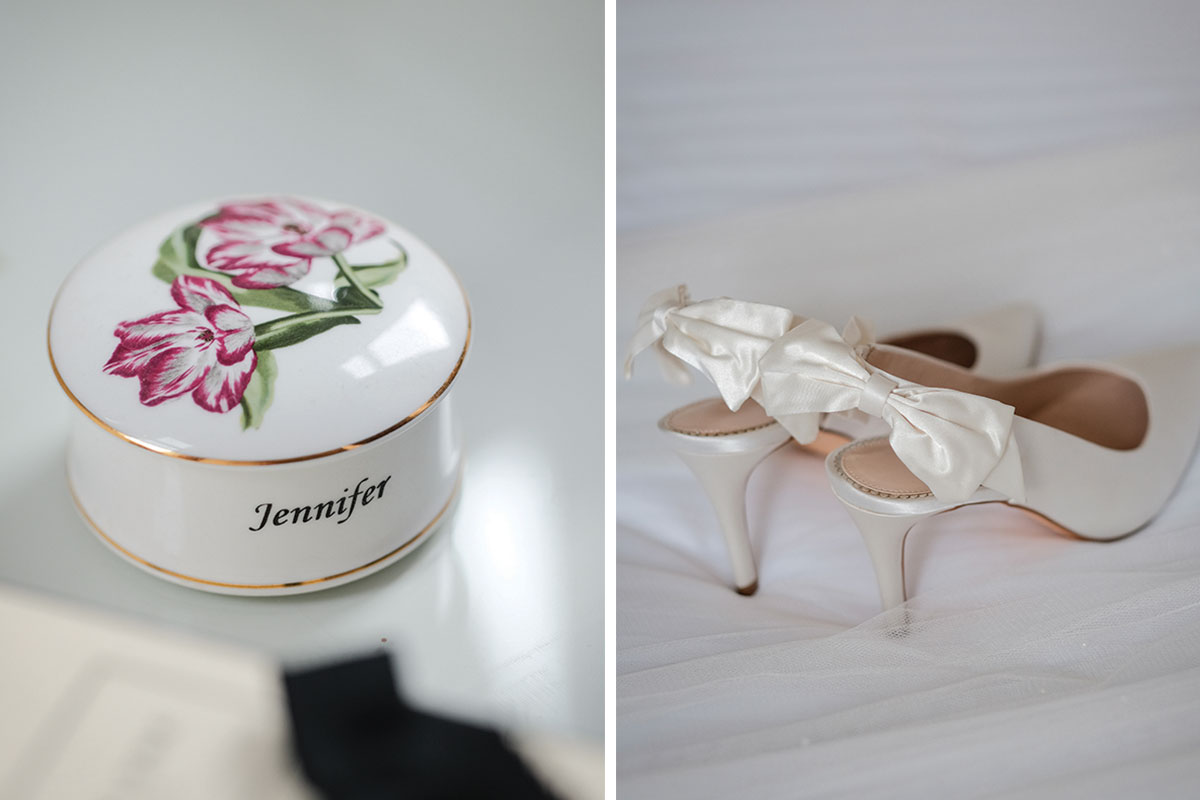 personalised-ceramic-wedding-trinket-dish-and-bridal-shoes