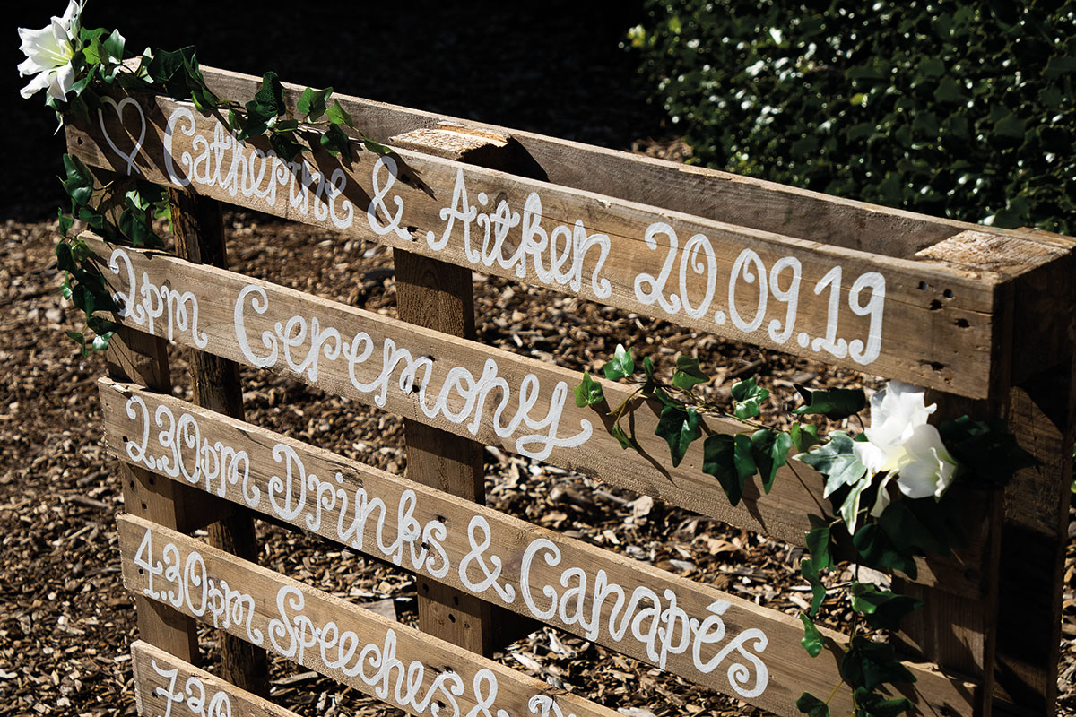 wedding-day-times-painted-on-pallet