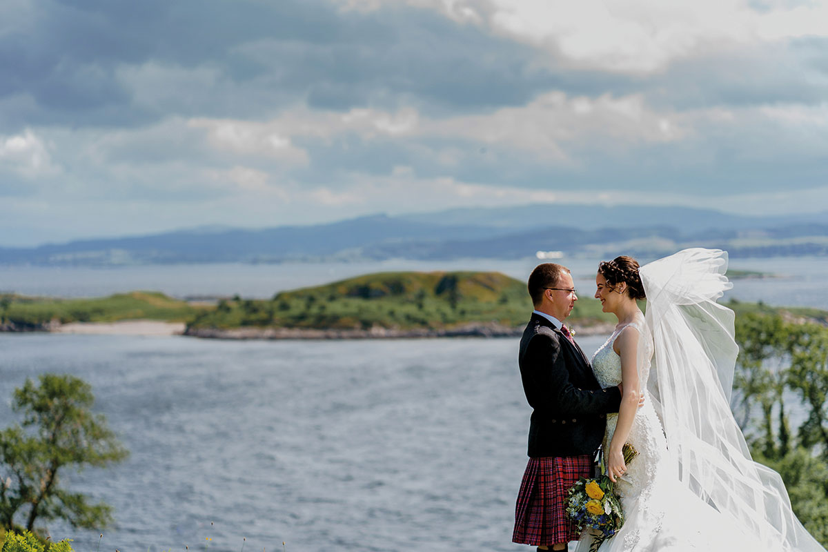 Isle-of-Lismore-Wedding-Photography-Barry-Robb-bride-groom-view-over-water