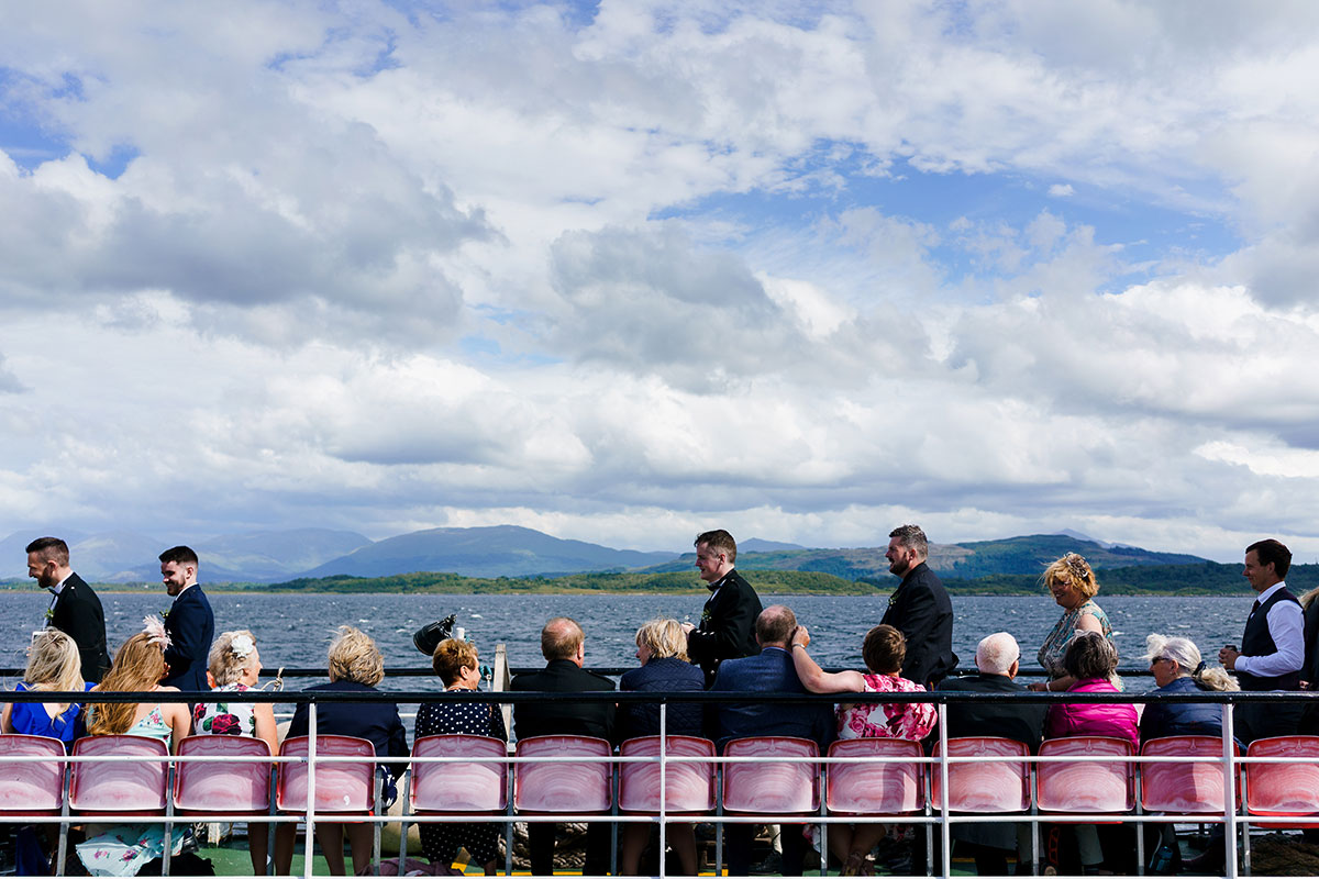 Isle-of-Lismore-Wedding-Photography-Barry-Robb-guest-on-ferry