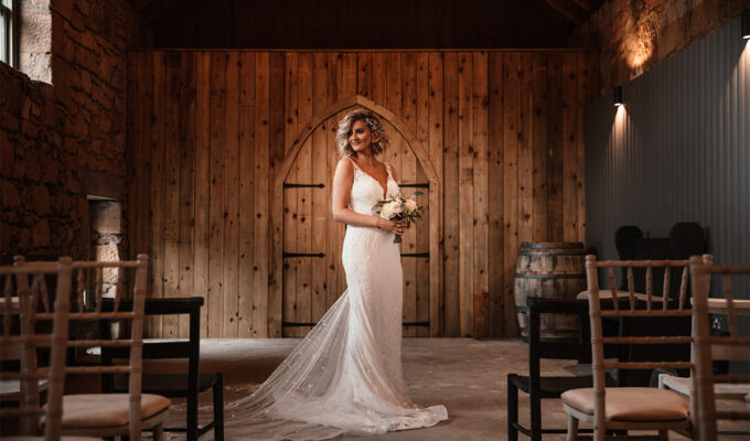 Amy King Bridal dress at The Den