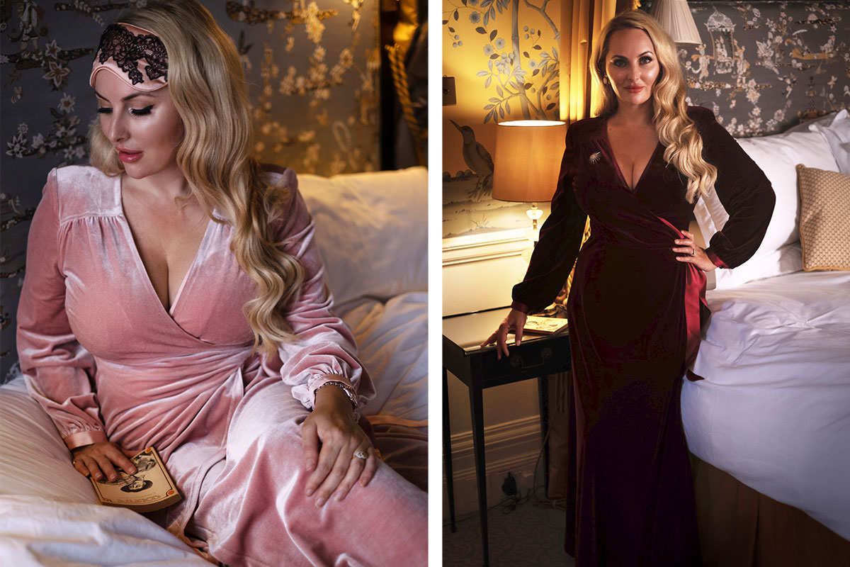 Wine and Dusty Pink robes by Bombshell London